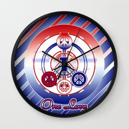 One Love (Patriot) Wall Clock