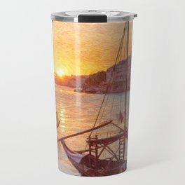 Porto sunset, Portugal Travel Mug
