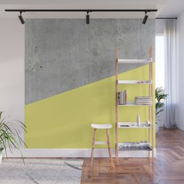 Concrete and Yellow Color Wall Mural