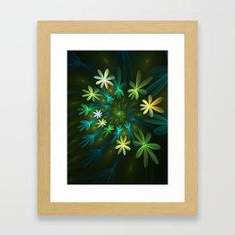 Fantasy Flowers, Fractal Art Framed Art Print