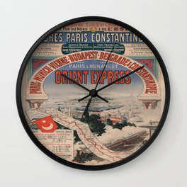 Vintage poster - Orient Express Wall Clock