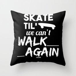 Skateboarder skater gift idea Throw Pillow