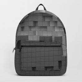 Grey cubes mosaic - torn wall Backpack