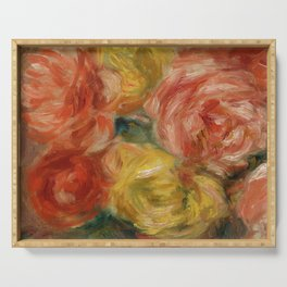"""Auguste Renoir """"Nature Morte Aux Roses (Still life with roses)"""" Serving Tray"""