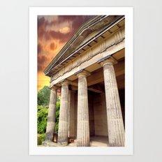 Temple Sky Art Print