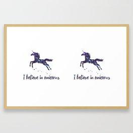 i believe in unicorns mug Framed Art Print