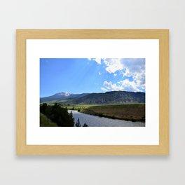 Sunkissed Earth Framed Art Print