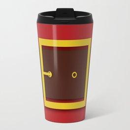 Santa's Belt - Christmas Illustration Travel Mug