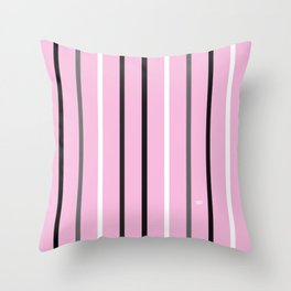PINK MINIMAL STRIPES #black #white #stripes #minimal #art #design #kirovair #buyart #decor #home Throw Pillow