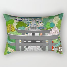 Passage to Light - Miyajidake Shrine Rectangular Pillow