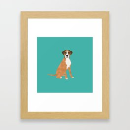 Boxer dog breed gifts for pure breed boxer dog lovers Framed Art Print