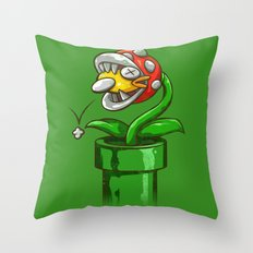 WRONG PIPE Throw Pillow