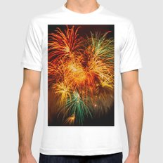 Firework MEDIUM White Mens Fitted Tee