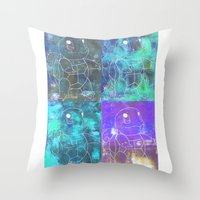 squirtle Throw Pillows featuring Squirtle Squad by pkarnold + The Cult Print Shop