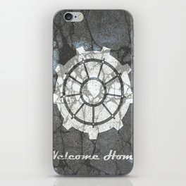 Fallout inspired welcome home, vault door, print, poster, wall art, neutral iPhone Skin