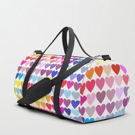 Rainbow Hearts Duffle Bag