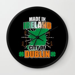 Made In Ireland Distressed Wall Clock