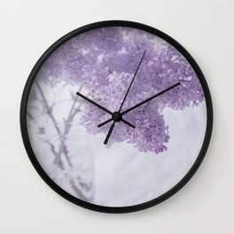 First Love - Pastel Purple Lilac Floral Decor Wall Clock