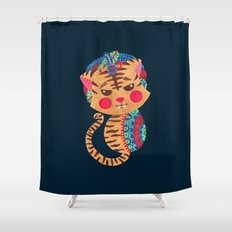The Little Bengal Tiger Shower Curtain