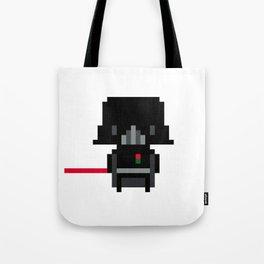 Pixel Darth Vader Tote Bag