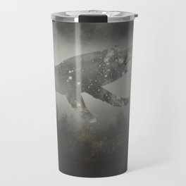 Dream Space - Surreal Image with A Whale Travel Mug