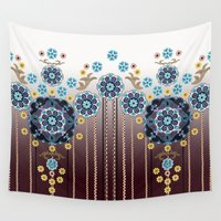 folk Wall Tapestries featuring Folk Festival by Vikki Salmela