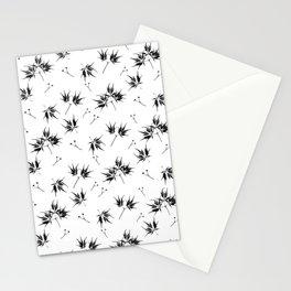 Black Acer Pattern Stationery Cards