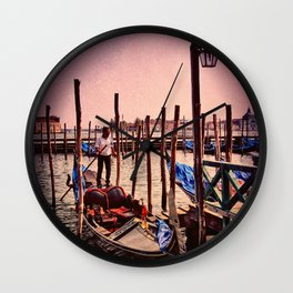 Venice in the evening Wall Clock