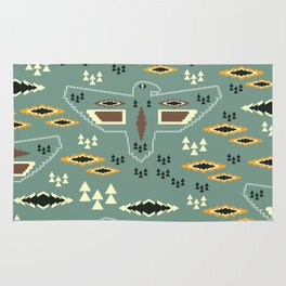 Native pattern with birds Rug
