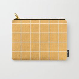 Small Grid Pattern Yellow Carry-All Pouch