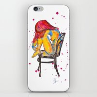 selena gomez iPhone & iPod Skins featuring selena by Laurie Art Gallery