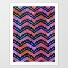 Southwest Chevron Art Print