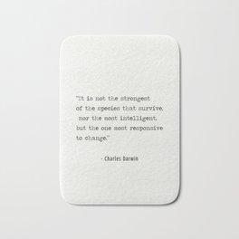 Charles Darwin quote Bath Mat