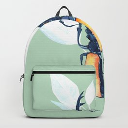 Stag-beetle watercolor Backpack