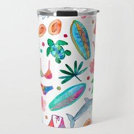 Dotty Summer Beach Pattern Travel Mug
