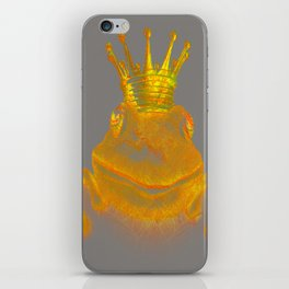 Simple Golden King Frog on Grey Day iPhone Skin