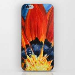 Orange Flower Painting iPhone Skin