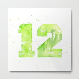 12th Man Seattle Art Metal Print