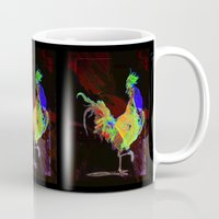 rooster Mugs featuring ROOSTER by mimulux