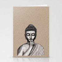 buddha Stationery Cards featuring BUDDHA by Vanya