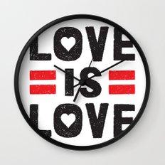 Love is Love Wall Clock