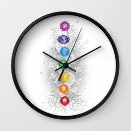 7 Chakra Symbol Tree Of Life #26 Wall Clock