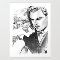 great gatsby Art Prints featuring The Great Gatsby by Ilaria De Rosa