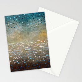 Landscape Dots - Turquoise Stationery Cards
