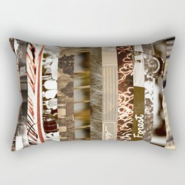 Brown Intersections Rectangular Pillow