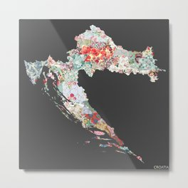 Croatia map Metal Print
