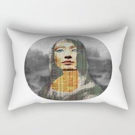 Nona Lifretéte in grey Rectangular Pillow