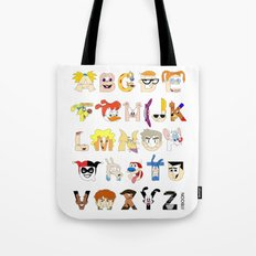 Child of the 90s Alphabet Tote Bag