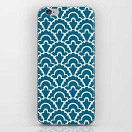 Fan Pattern Peacock Blue 244 iPhone Skin