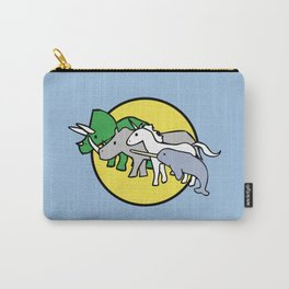 Horned Warrior Friends (unicorn, narwhal, triceratops, rhino) Carry-All Pouch